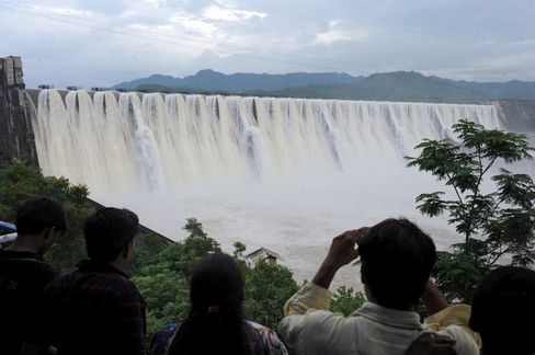 The Sardar Sarovar Dam.