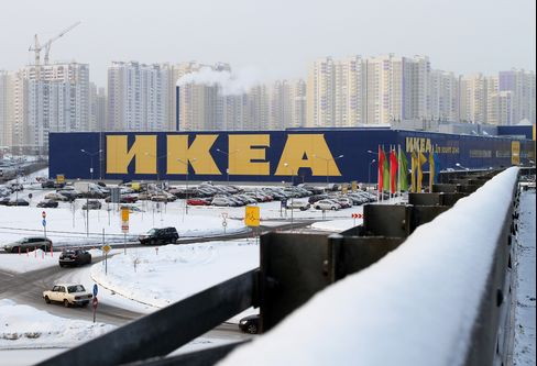 Ikea Group's Khimki store is seen in Moscow, Russia, on Thursday, Jan. 27, 2011.