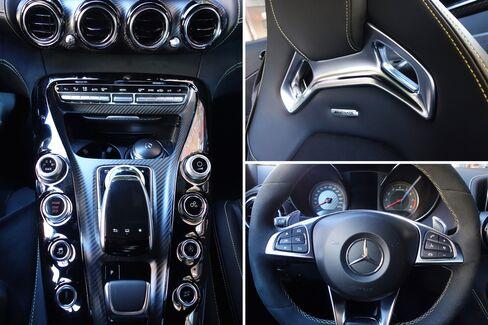 The interior of the car feels like a spacious cockpit.