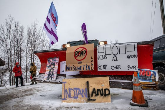 Protesters Stop Workers at Site of TC Energy's B.C. Gas Pipeline