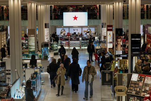 Shoppers Walk Through the Macy's Inc. Store in New York
