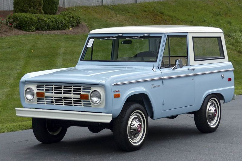 The current average value of a first-generation Ford Bronco in perfect condition is $47025 according to Hagerty up from $23400 five years ago. & Vintage Ford Broncos Are More Expensive Than Ever - Bloomberg markmcfarlin.com