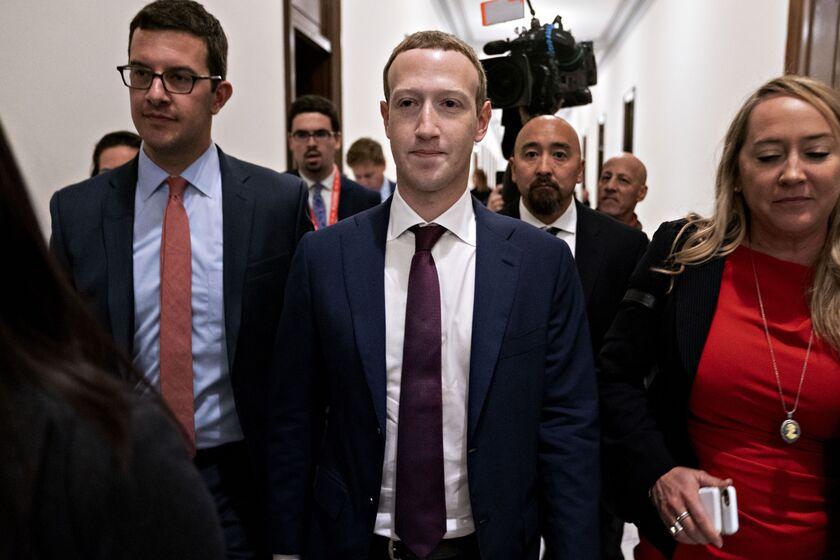 Facebook CEO Mark Zuckerberg Visits Washington Amid Scrutiny