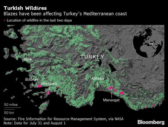 Raging Wildfires Provide Bleak Backdrop for Embattled Erdogan