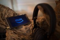 The Amazon Music application seen displayed on a Sony