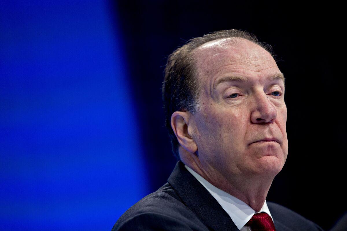 World Bank Chief Malpass Sees Steeper Global Growth Slowdown