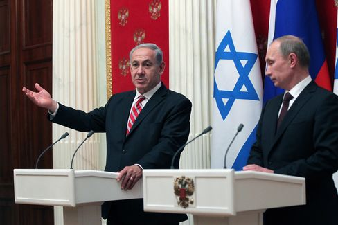 Israel's Benjamin Netanyahu & Russia's Vladimir Putin