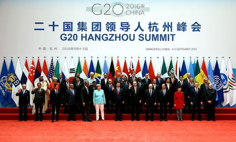 The G-20 'family photo'.