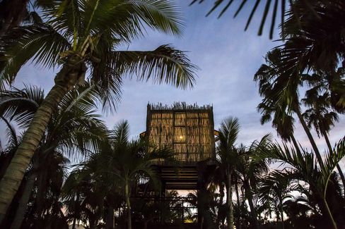 One of 12treehouses at Acre, which doubles as a farm and restaurant in San Jose del Cabo.