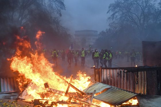 Macron Says Violence in Paris Not Reflecting Legitimate Anger