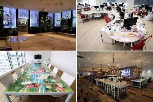 DMM六本木新オフィスの内部