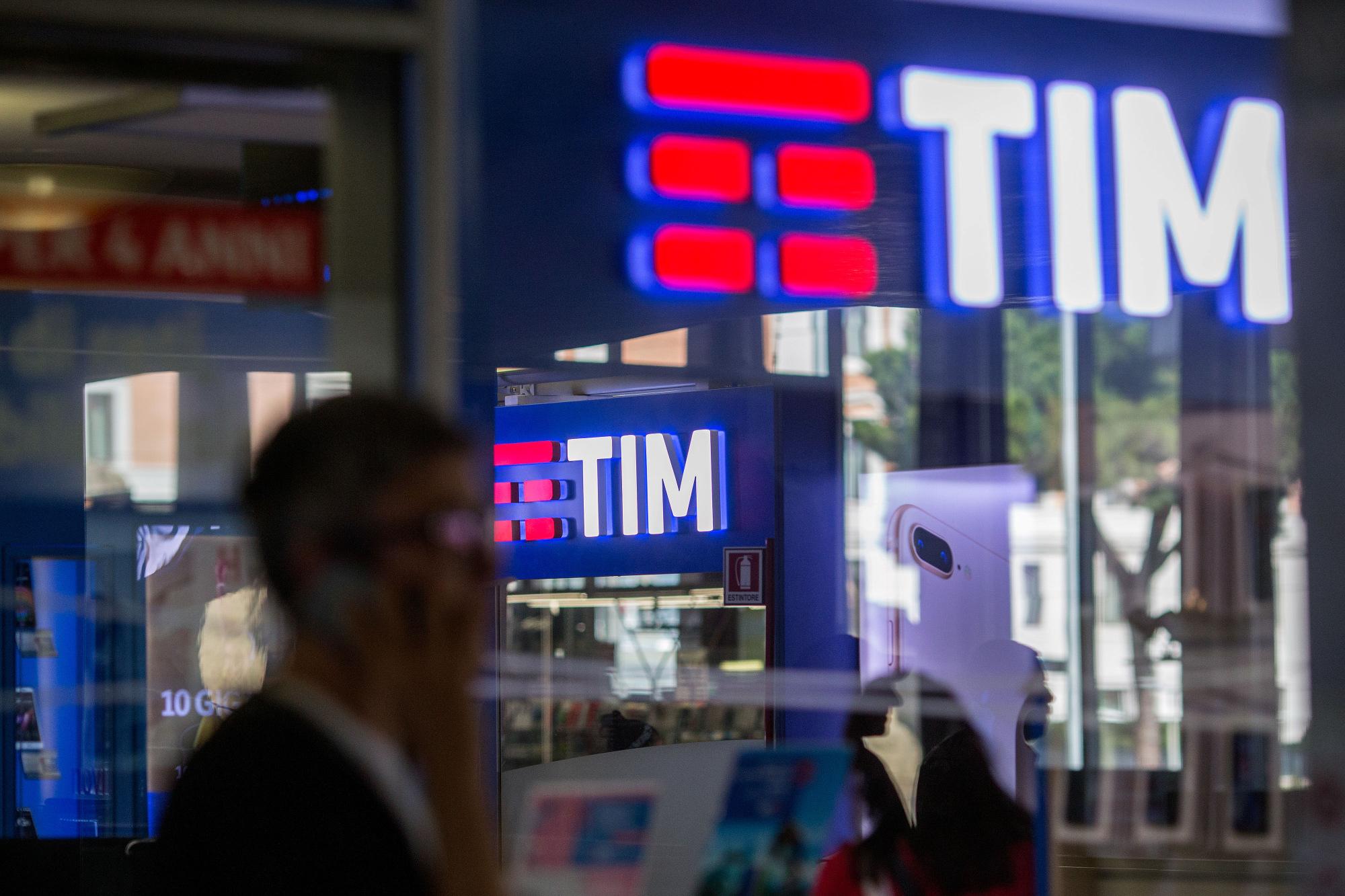A Telecom Italia store in Rome.