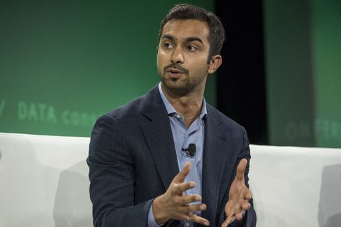 Apoorva Mehta, founder and chief executive officer of Instacart Inc., speaks during the 2015 Bloomberg Technology Conference in San Francisco.