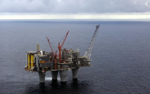 Production On Statoil ASA's Troll A Offshore Gas Platform