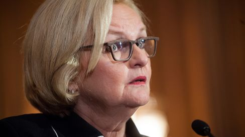 Sen. Claire McCaskill (D-MO) speaks at a news conference July 25, 2013 on Capitol Hill in Washington, D.C.