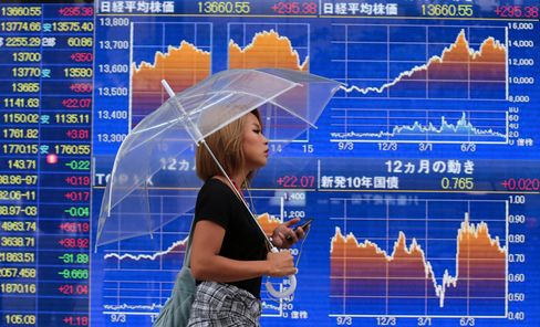 Asian Stocks Fall, Extending Global Retreat, Amid Syria Tensions