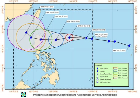 Super Typhoon Yutu Threatens Philippines With Deadly Winds, Surf