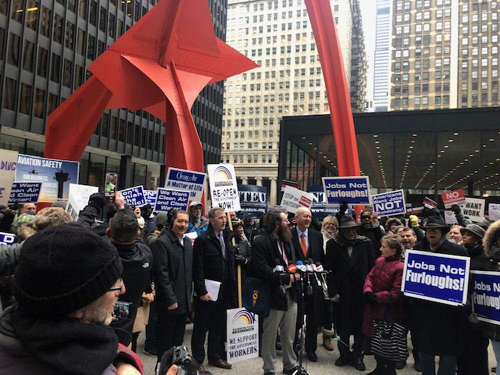 Chicago Federal Workers: 'Furlough Trump!' and 'Where Is Mitch?'
