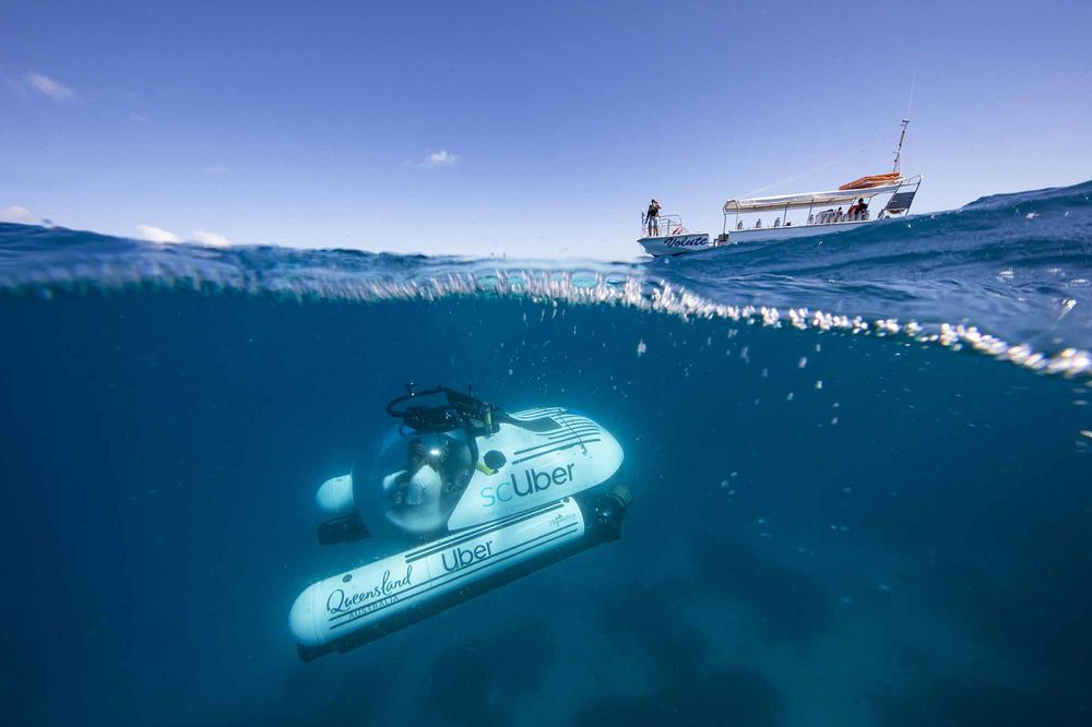 Uber Launches Submarine Rides to Great Barrier Reef