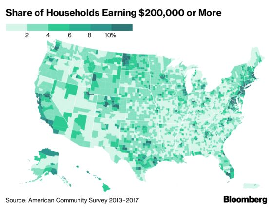 Americans Earning Over $200,000 Are Flocking to These Neighborhoods