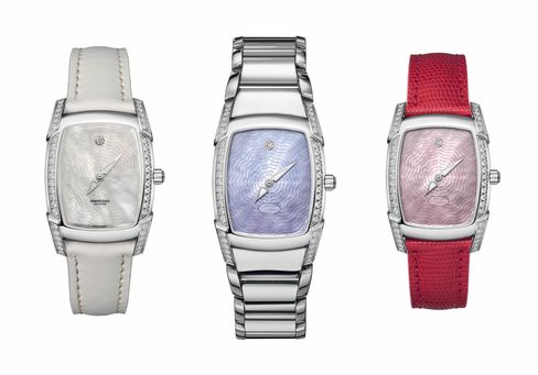 Three models of the Kalpa Donna Anniversaire watch.