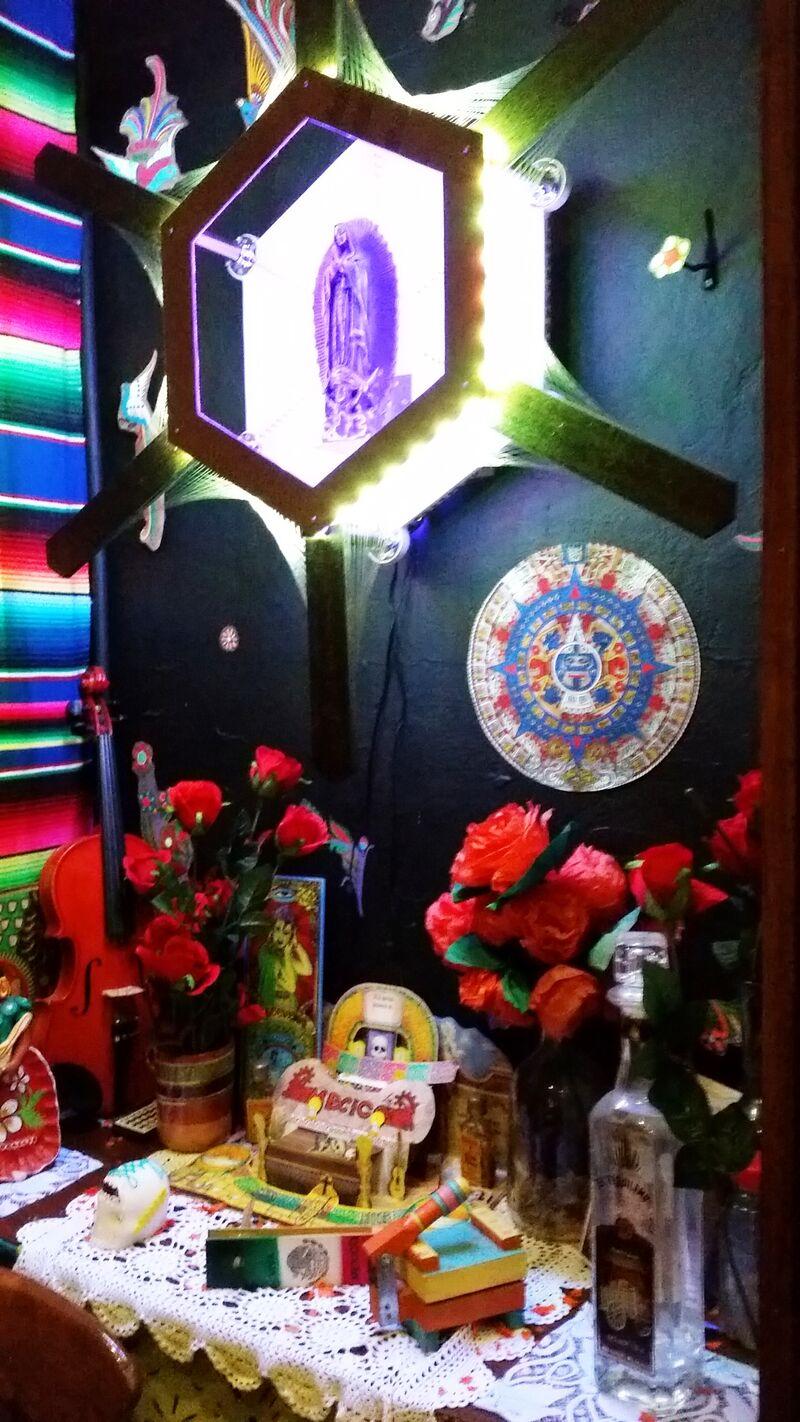 The alter at Mezcal Cantina.