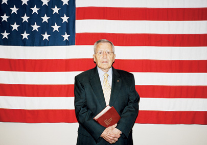 Gil Stricklin at his Dallas office. He modeled Marketplace Chaplains USA on the military