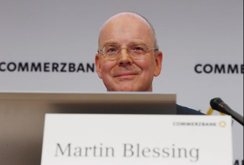 Commerzbank AG CEO Martin Blessing