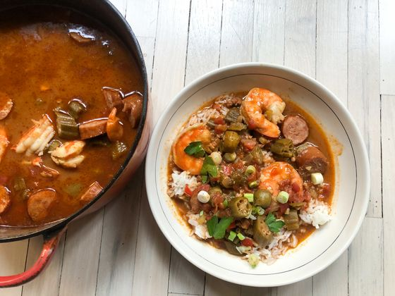 A Star Chef'sGumbo Breaks aBig Rule of New Orleans Cooking