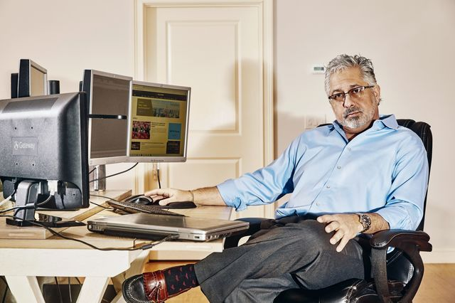 Financial advisor Ramesh Gulati photographed at his home in East Greenwich, RI on Feb. 13, 2021.