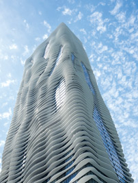 Aqua's undulating terraces provide shade and views