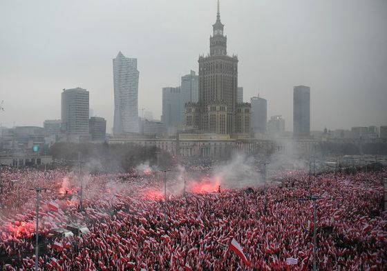 Fascist Flags on Poland's 100th Birthday Show a Fractured Europe