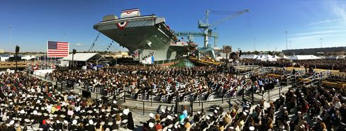 Christening ceremony of the USS Gerald R. Ford, on Nov. 9, 2013.