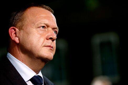 U.K. Prime Minister David Cameron Greets Danish Counterpart Lars Lokke Rasmussen