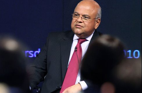 South Africa's Finance Minister During Interview