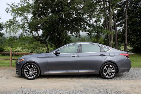 The Genesis is longer than any car in its class.