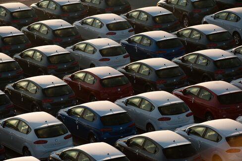 New Seat Automobiles Stand in Barcolona