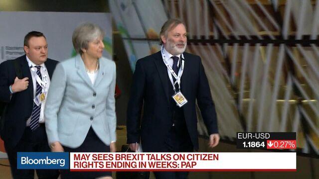 U.K. Fears Brexit Breakdown as May Takes Best Offer to Lunch