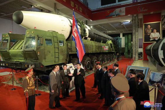 Kim Jong Un Shows Off Expanding Array of Missiles to Hit U.S.