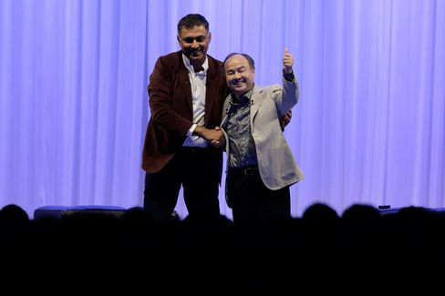 Masayoshi Son and Nikesh Arora