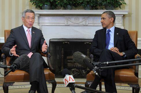 Singapore's PM Lee Hsien Loong & U.S. President Barack Obama