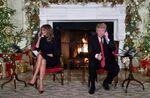 トランプ大統領(右)とメラニア夫人(左)