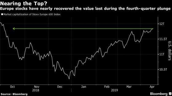 Glory Days Are Over for European Stocks in 2019, Strategists Say