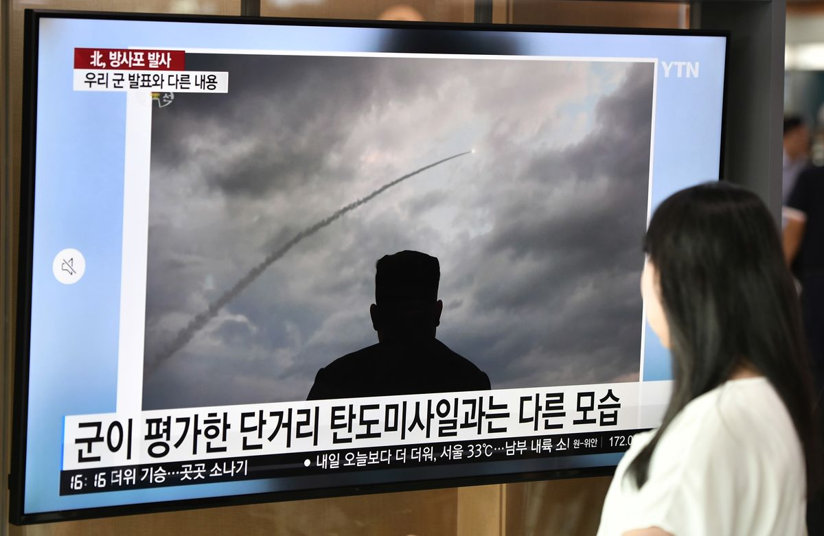 North Korea's Kim Guides Test Fire of New Rocket Launcher