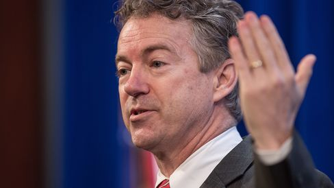 US Republican Senator from Kentucky Rand Paul addresses the 2015 Conservative Policy Summit at the Heritage Foundation in Washington on January 13, 2015.