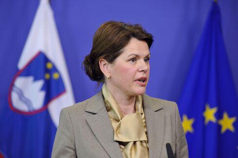 Slovenia's Prime Minister Alenka Bratusek