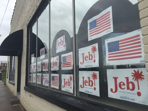 Jeb Bush's campaign headquarters in Columbia, South Carolina