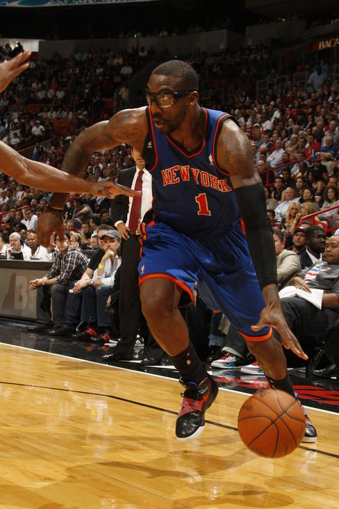 Amare Stoudemire #1 of the New York Knicks