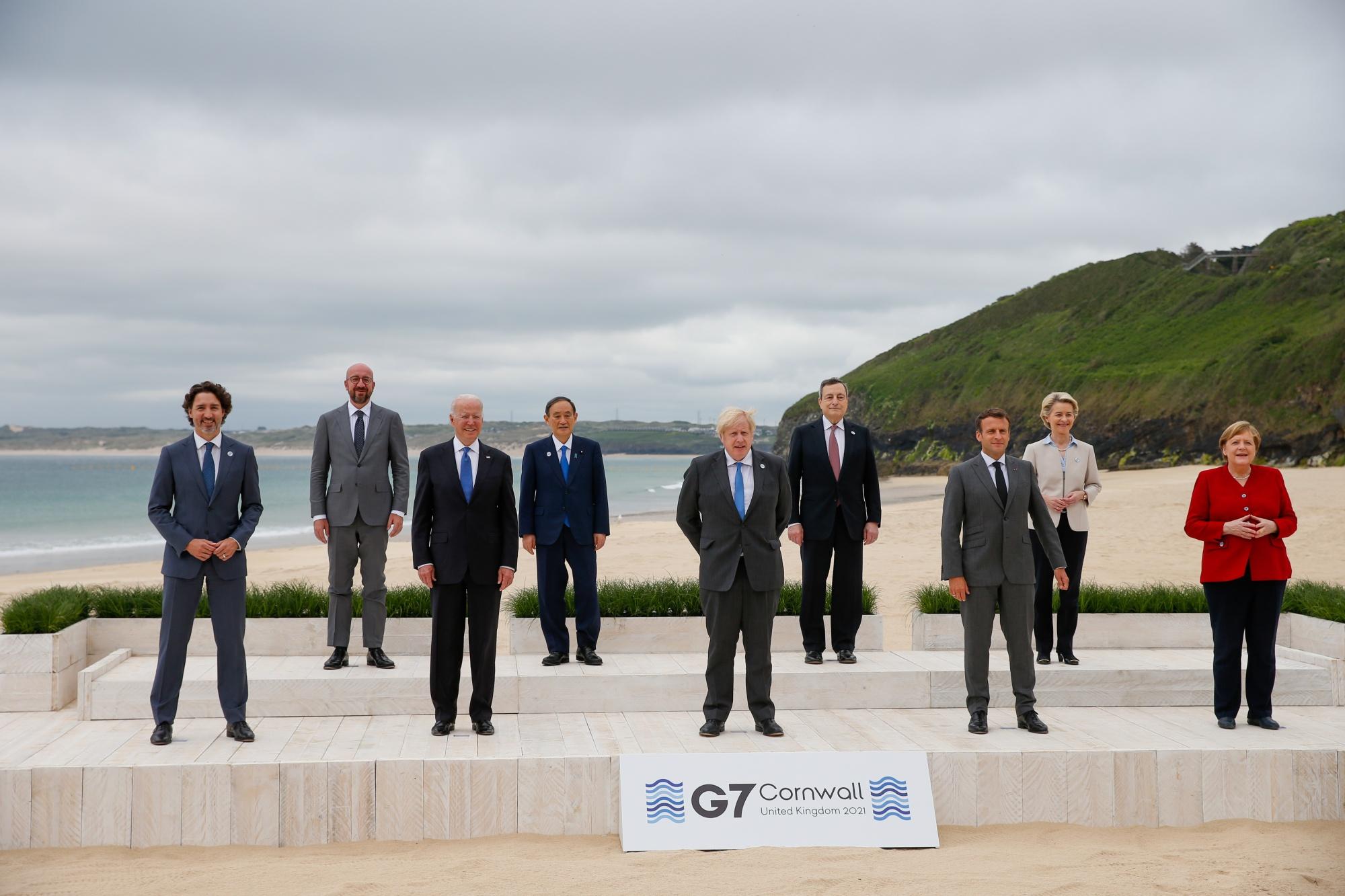 Erster Tag des Gipfels der G-7-Staats- und Regierungschefs