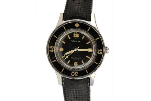 The Waltham Fifty Fathoms is an U.S. Navy watch made in Switzerland.